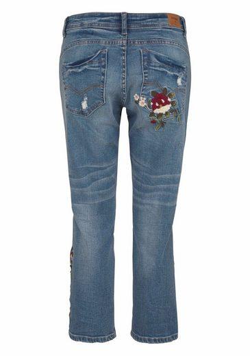 Cream Boyfriend-Jeans FLOWER