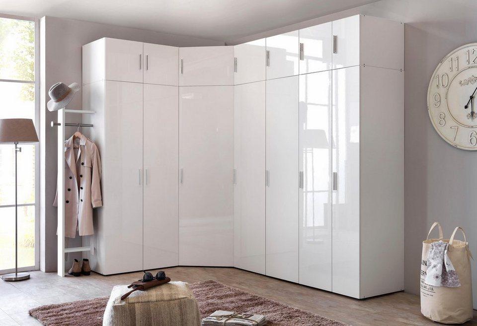 wimex eckkleiderschrank valetta mit hochglanz front. Black Bedroom Furniture Sets. Home Design Ideas