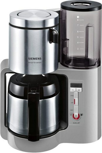 SIEMENS Filterkaffeemaschine TC86505 Sensor for Senses, 1,15l Kaffeekanne, Papierfilter 1x4, Wassertank mit Griff