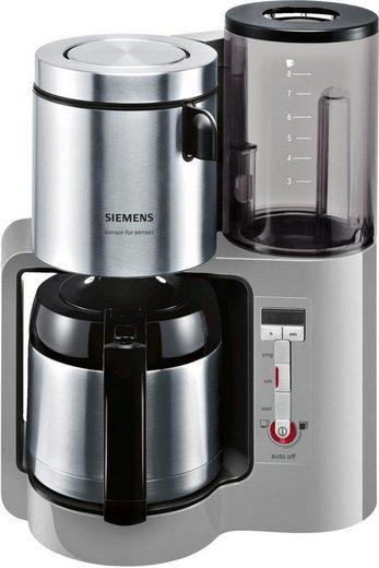 SIEMENS Filterkaffeemaschine Sensor for Senses TC86505, 1,15l Kaffeekanne, Papierfilter 1x4, Wassertank mit Griff