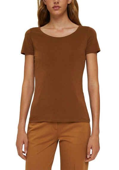 Esprit T-Shirt mit dezenter Logoapplikation am Saum