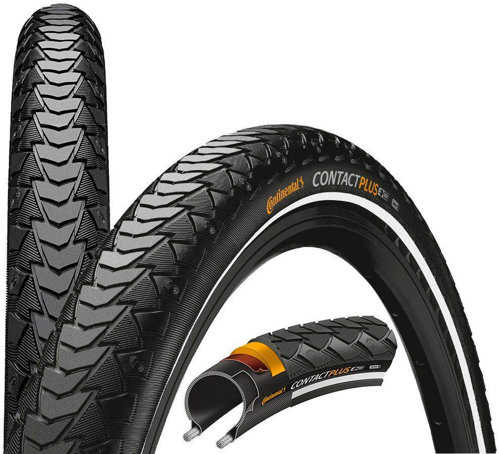 "CONTINENTAL Fahrradreifen »Contact Plus SafetyPlus Breaker 26"" Draht Reflex«"