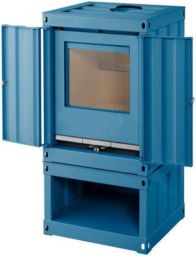 color emajl kaminofen rotterdam stahl blau 5 kw ext luftzufuhr containerstyle online. Black Bedroom Furniture Sets. Home Design Ideas