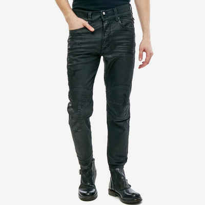 Diesel Ankle-Jeans Knöchellange Herren Stretch Hose beschichtet - Blanck 0671E