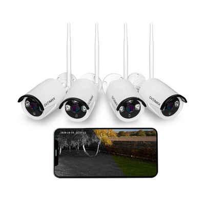 Overmax »CAMSPOT 4.0/8.0« IP-Überwachungskamera (FullHD 1080p, WLAN (Wi-Fi), WLAN, FullHD 1080p, 4xKameras, PRO- IP66, WiFi, 25m)