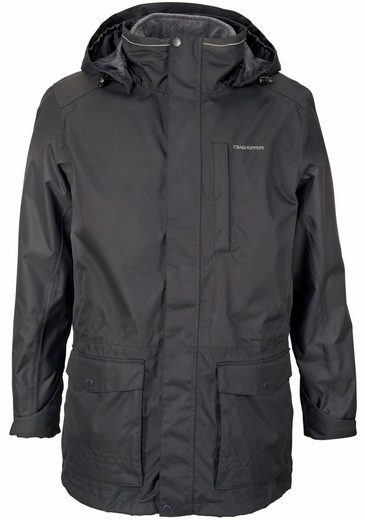 Craghoppers 3-in-1-Funktionsparka KIWI LONG 3in1 JACKET, inklusive warmer Fleecejacke