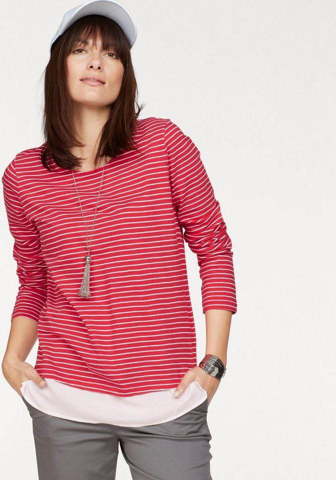 Boysen´s Langarmshirt im Layering-Look mit Streifen