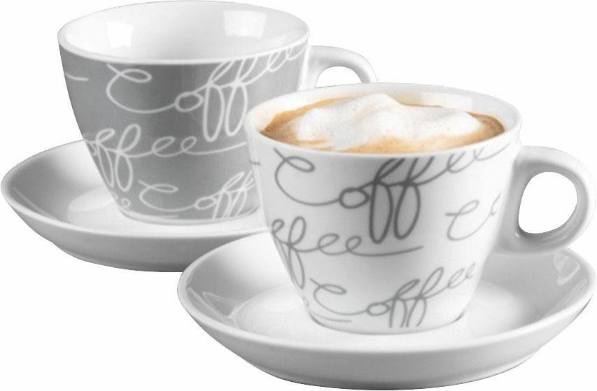 Cappuccino-Set ,Ritzenhoff & Breker, »Cornello Grey« (4-tlg.)