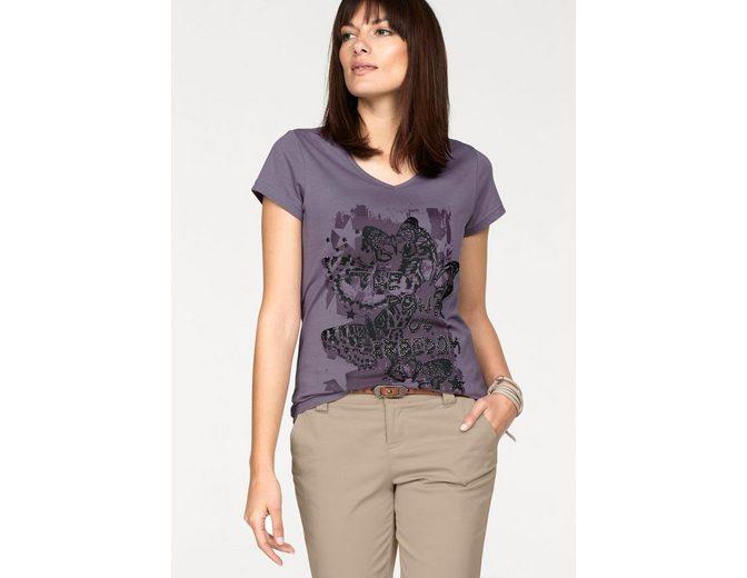 Boysen's T-Shirt, Mit Print und Glitzersteinen