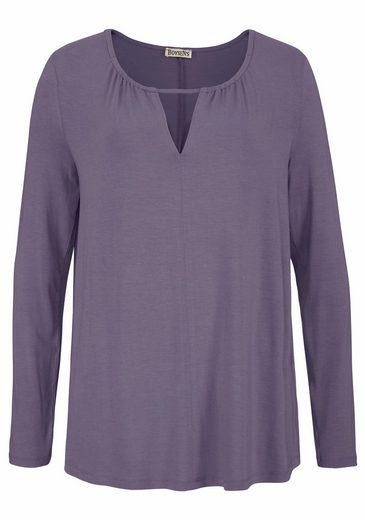Boysen's Longshirt, mit dezentem V-Ausschnitt