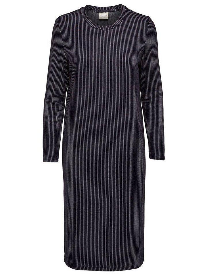 selected femme viskose kleid mit langen rmeln otto. Black Bedroom Furniture Sets. Home Design Ideas
