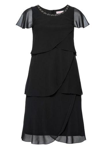 sheego Style Abendkleid, in Lagenoptik