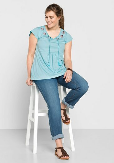 sheego Casual T-Shirt, mit Bindeband