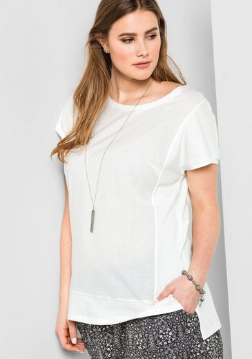 Sheego Casual T-shirt, In Leichter Oversize-form