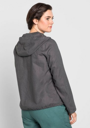 sheego Casual Kurzjacke, am Saum Tunnelzug mit Bindeband