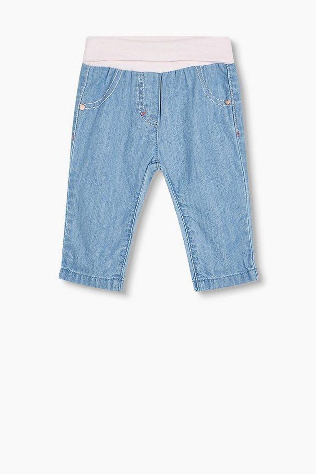 ESPRIT Softe Baumwoll-Jeans mit Rippbund kaufen   OTTO