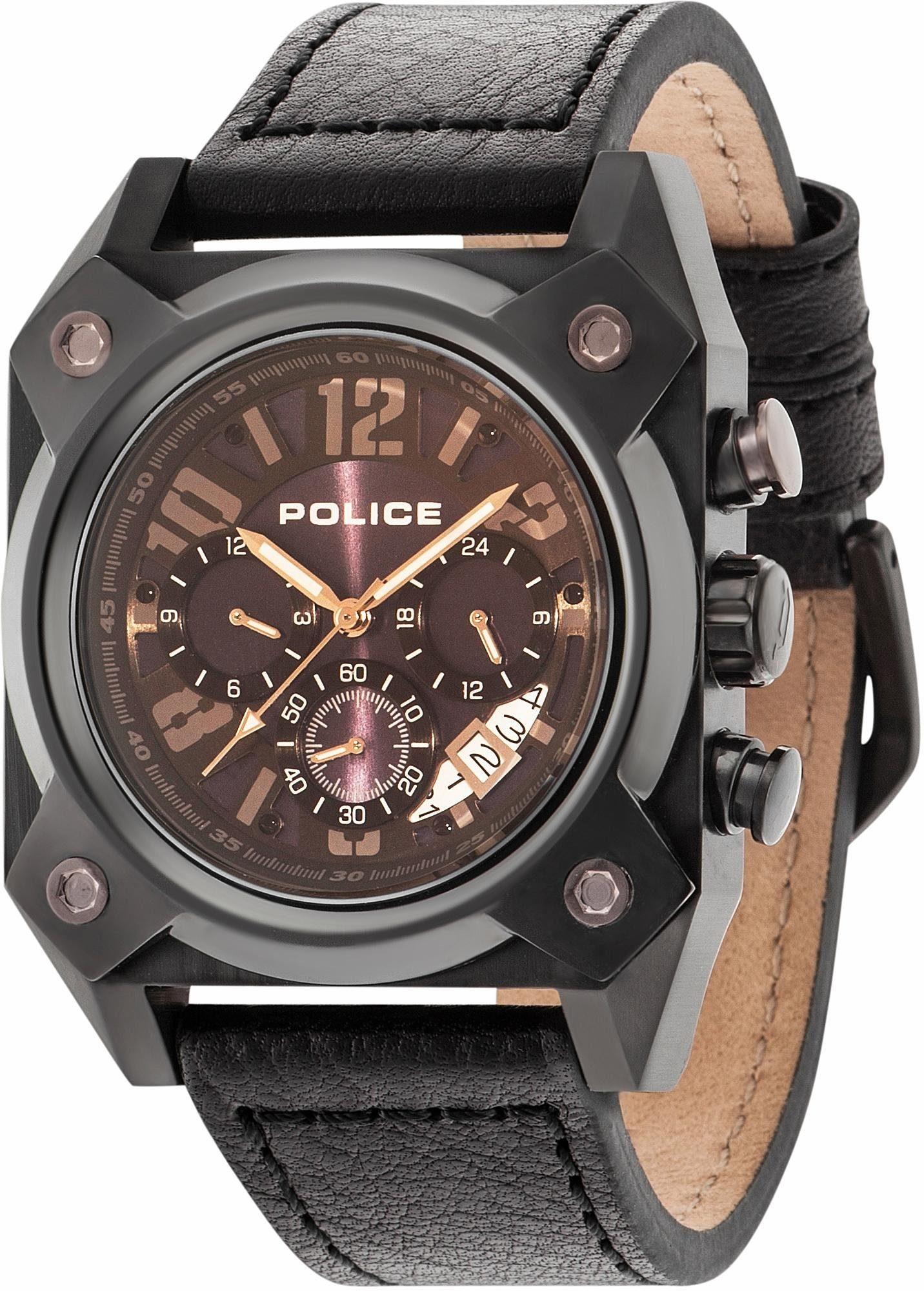 Police Multifunktionsuhr »HELLCAT, PL14691JSB.03« mit kleiner Sekunde