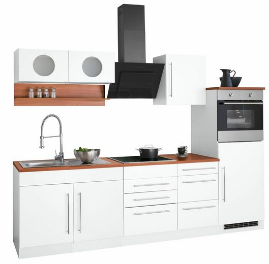 HELD MÖBEL Küchenzeile »Keitum«, mit E-Geräten, Breite 270 cm