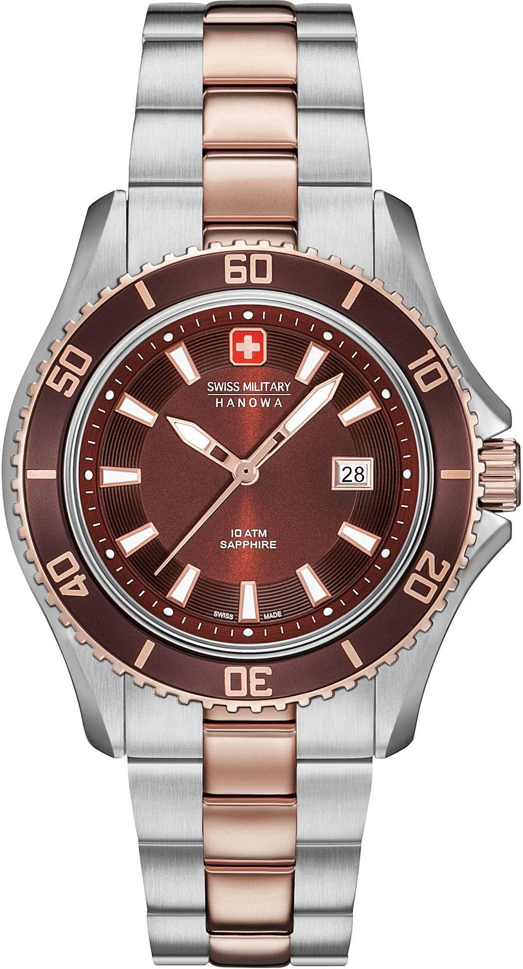 Swiss Military Hanowa Schweizer Uhr »NAUTILA LADY, 6-7296.12.005«