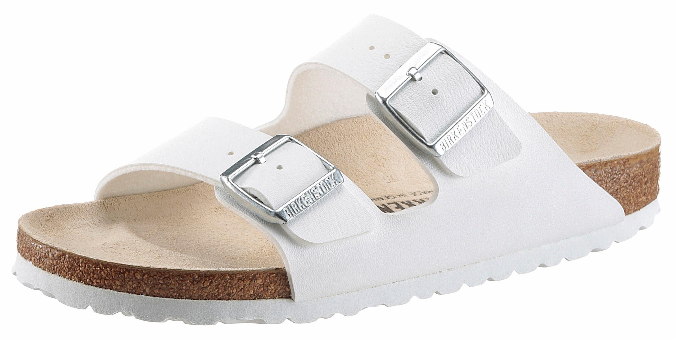 Birkenstock ARIZONA BF Pantolette, mit ergonomisch geformtem Fußbett online kaufen  weiß