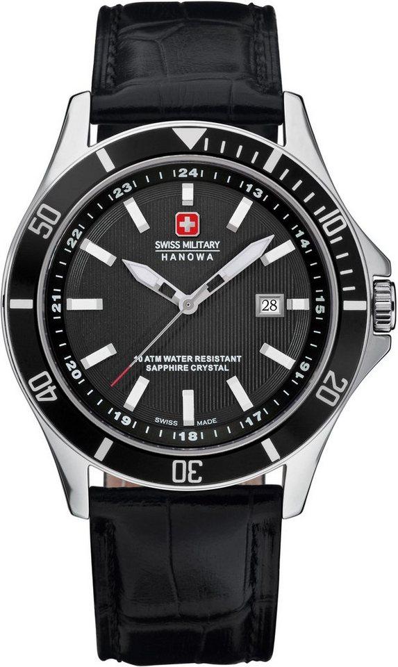 Swiss Military Hanowa Schweizer Uhr »FLAGSHIP, 6-4161.2.04.007« | Uhren > Schweizer Uhren | Schwarz | Swiss Military Hanowa