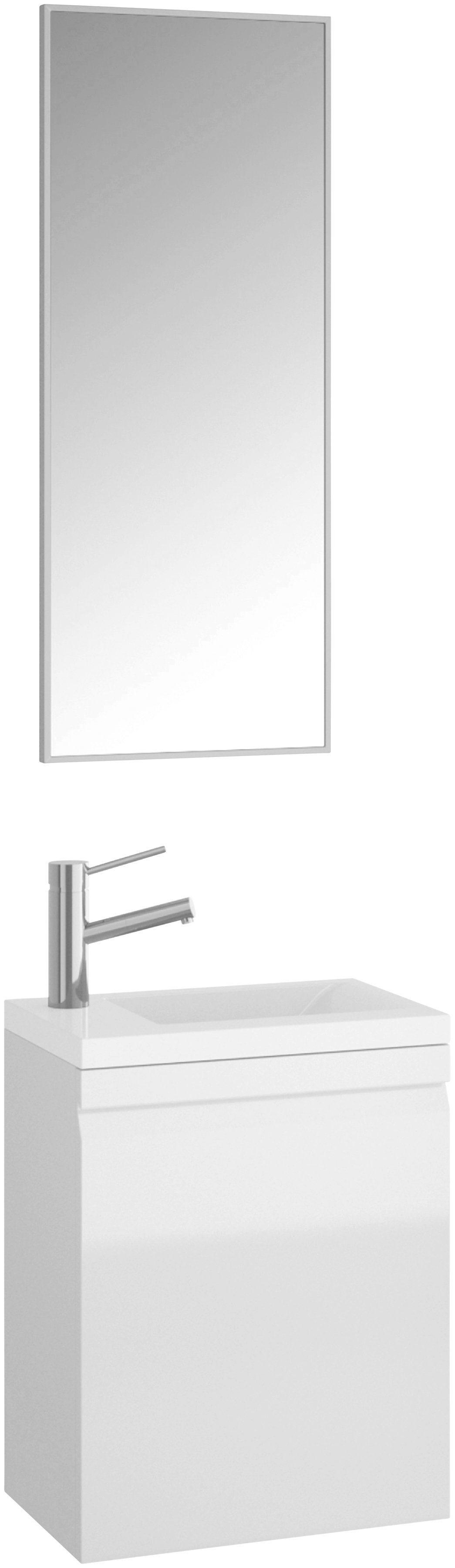 ALLIBERT Badmöbel-Set »Accent«, Breite 40 cm (2-tlg.) | Bad > Badmöbel > Badmöbel-Sets | Grau - Weiss - Glanz - Weiß | Mdf - Spanplatte | Allibert