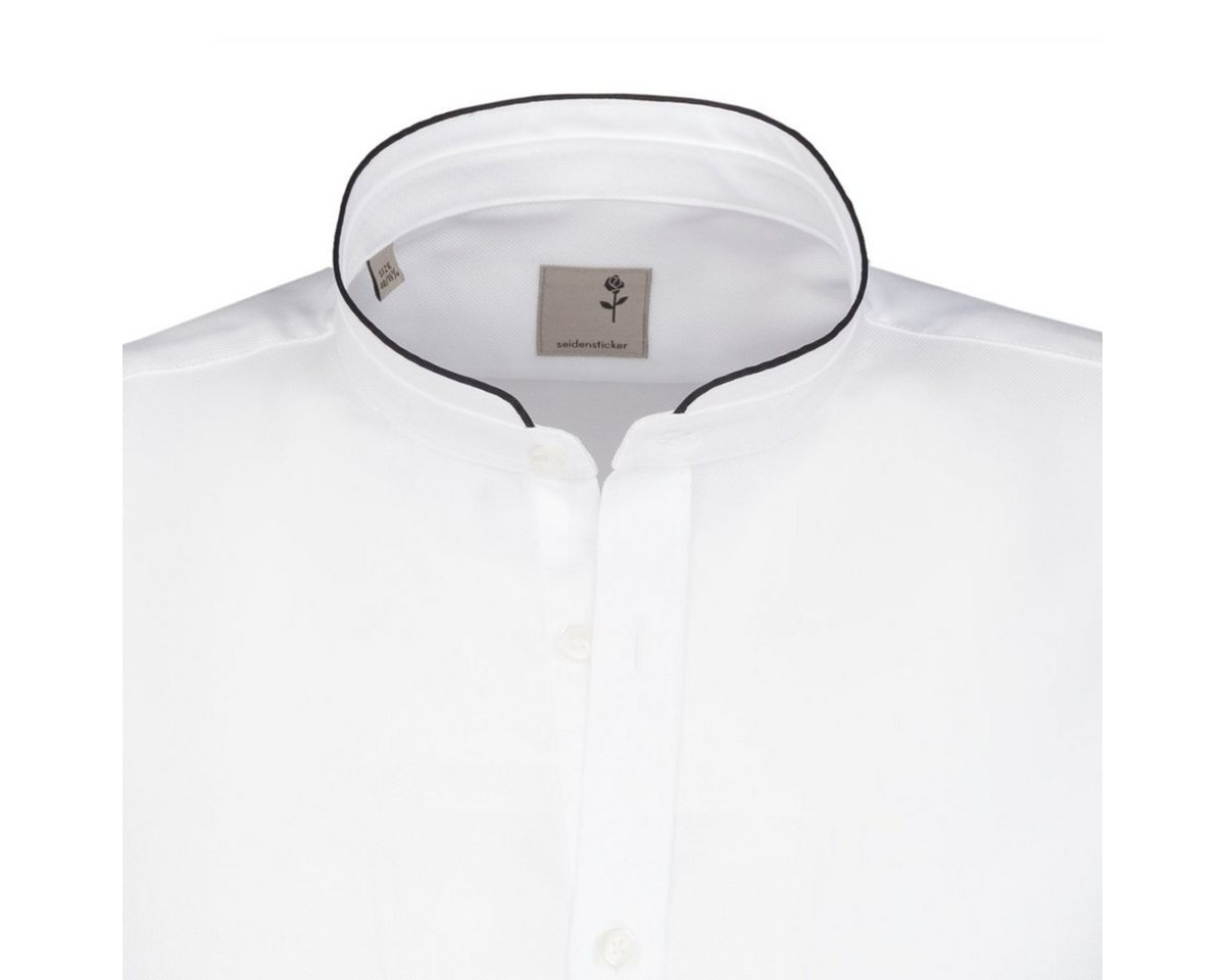 - Herren seidensticker Businesshemd Tailored, Stehbund-Kragen braun, weiß | 04048869186233