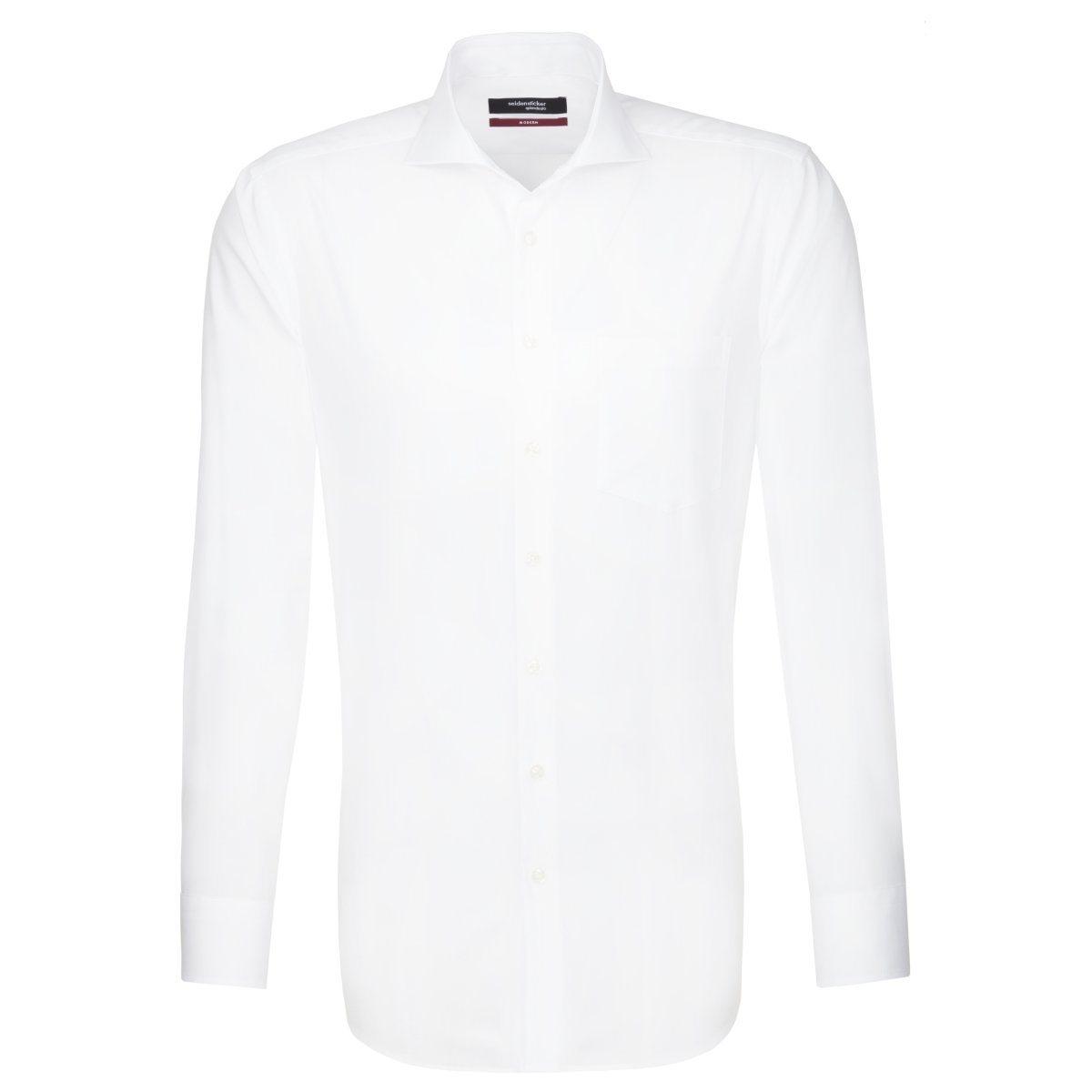 Herren seidensticker Businesshemd Modern, Hai-Kragen blau, orange, rot, weiß | 04021641521910