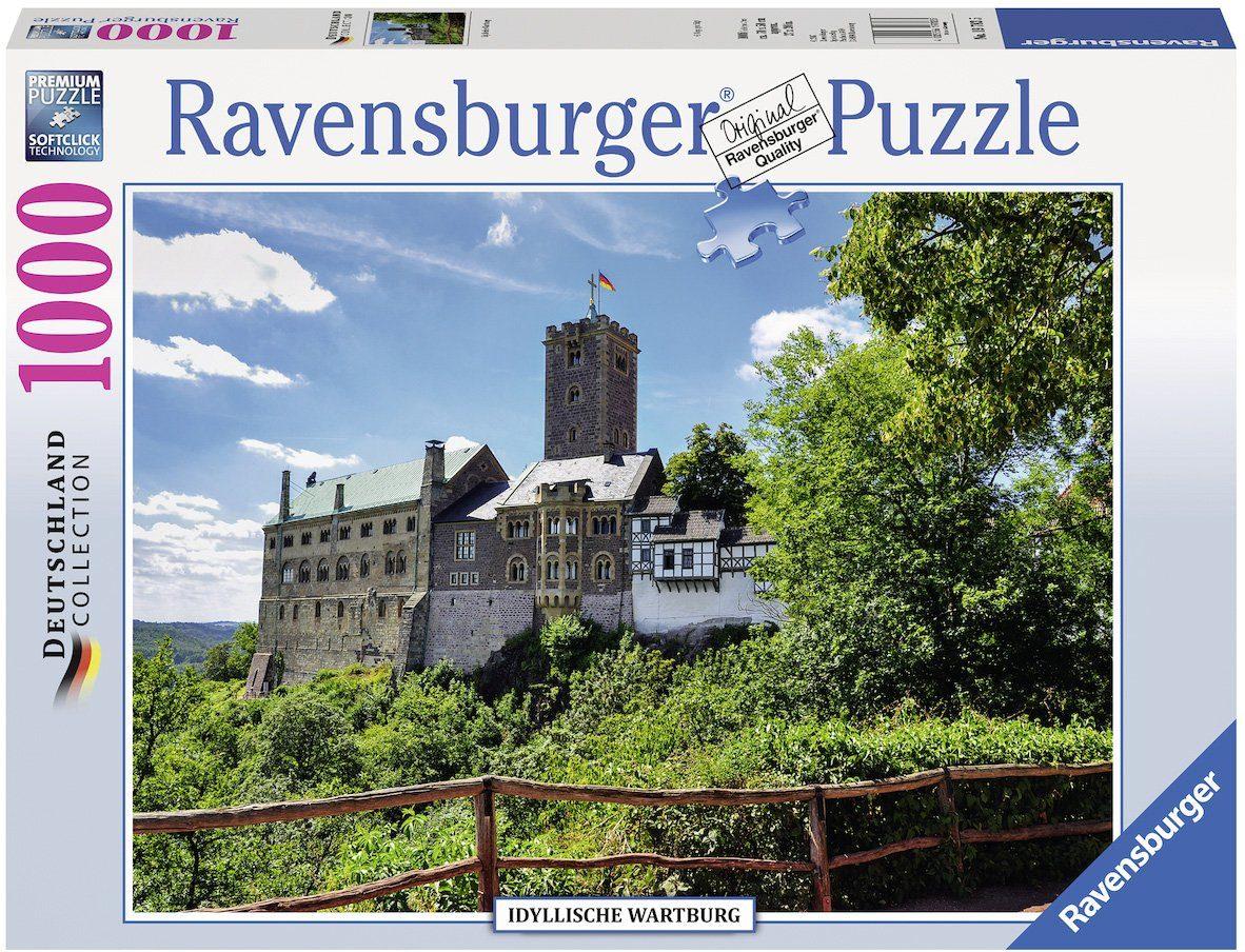 Ravensburger Puzzle, 1000 Teile, »Idyllische Wartburg«