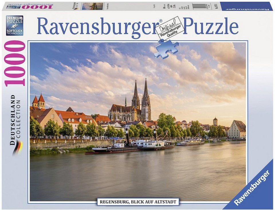 ravensburger puzzle 1000 teile regensburg blick auf. Black Bedroom Furniture Sets. Home Design Ideas
