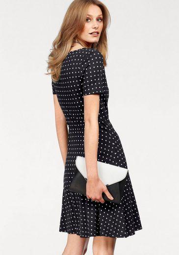 Bruno Banani A-Linien-Kleid, mit Allover-Tupfen-Dessin
