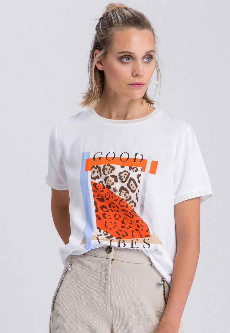MARC AUREL T-Shirt mit Animal-Frontprint