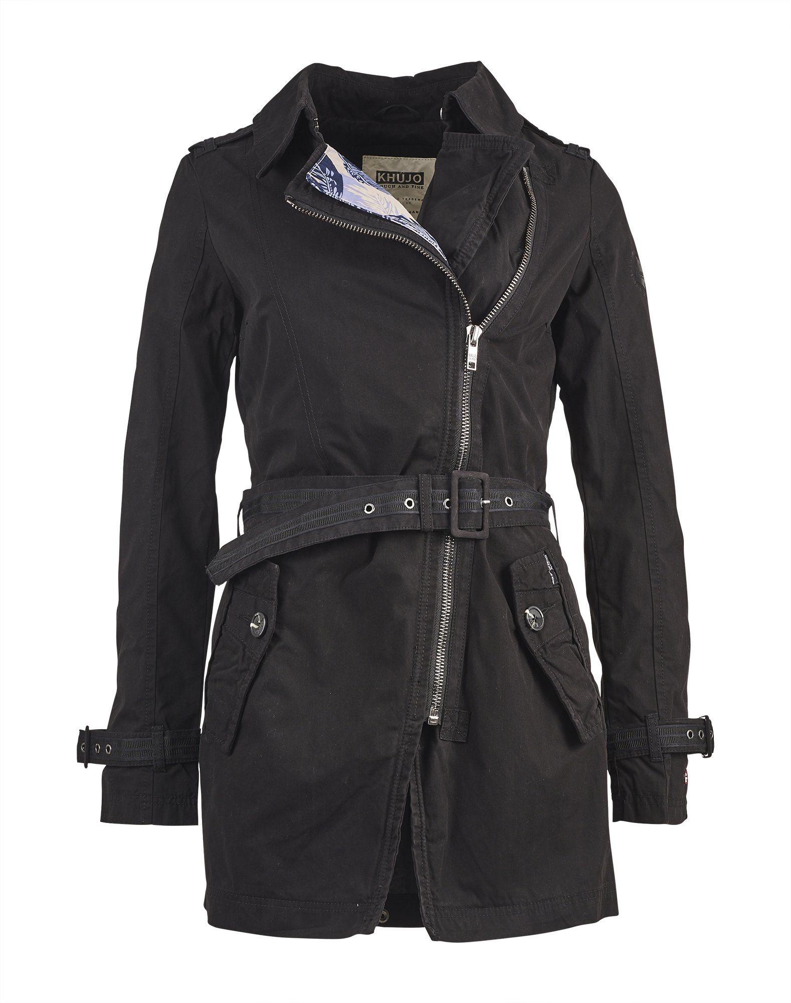 Khujo Trenchcoat »ANSONIA« | Bekleidung > Mäntel > Trenchcoats | Baumwolle - Nylon | khujo