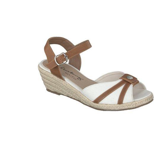 MUSTANG SHOES Damen Sandalette aus feinem Textil