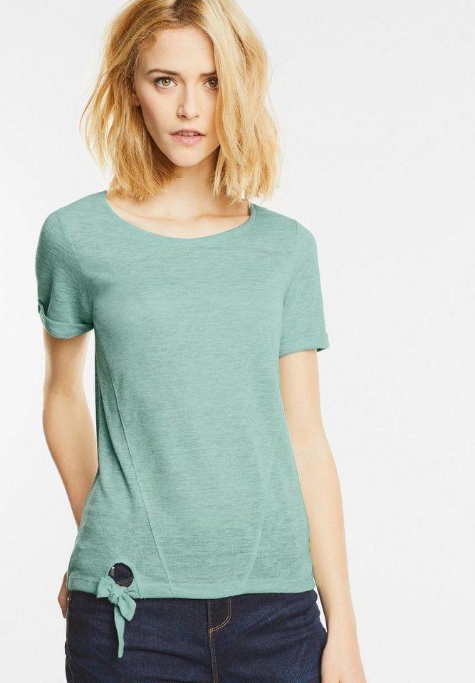 street one shirt mit knotensaum online kaufen otto. Black Bedroom Furniture Sets. Home Design Ideas