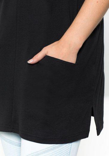 sheego Casual Longshirt, mit Eingriffstaschen