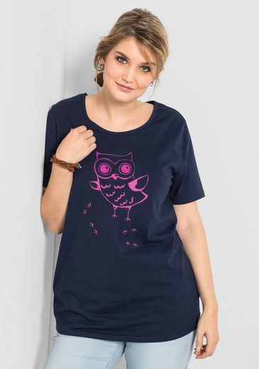 sheego Casual T-Shirt, mit Frontdruck