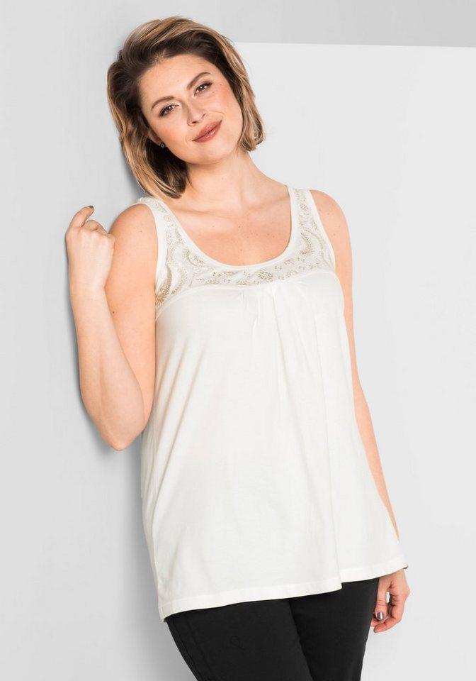 sheego Style Trägertop, Teilungsnaht im Brustbereich online kaufen ...