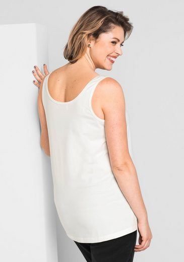 Sheego Style Tank, Division Seam In The Breast Area