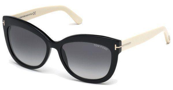 Tom Ford Damen Sonnenbrille »Alistair FT0524«, schwarz, 05B - schwarz/grau