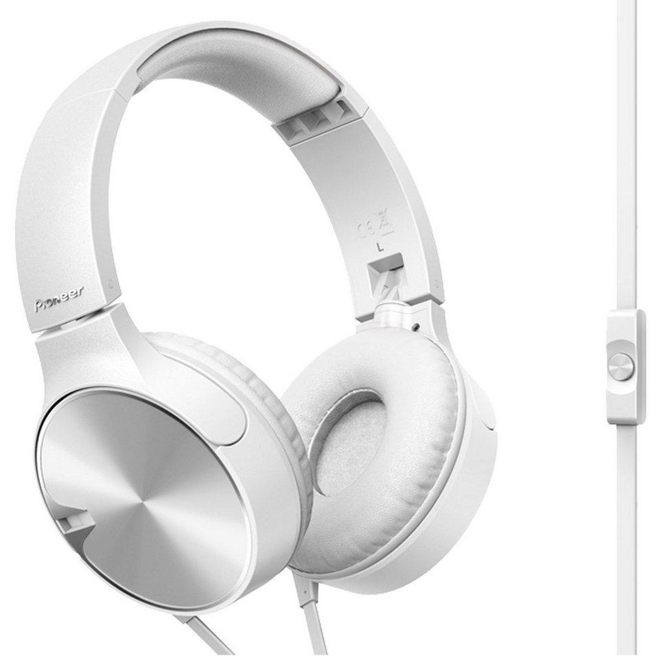 PIONEER On-Ear Kopfhörer mit Flachbandkabel & Fernbedienung »SE ...