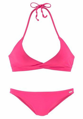 Damen Bench. Triangel-Bikini in Wickeloptik rosa | 04893865807695