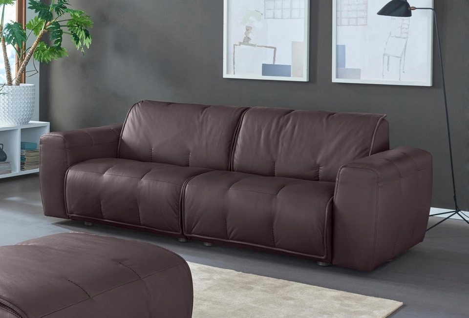natuzzi editions 2 sitzer ledersofa alessio in zwei. Black Bedroom Furniture Sets. Home Design Ideas