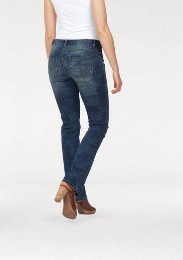 Laura Scott Gerade Jeans, mit angedeutetem Tarnfarben-Druck