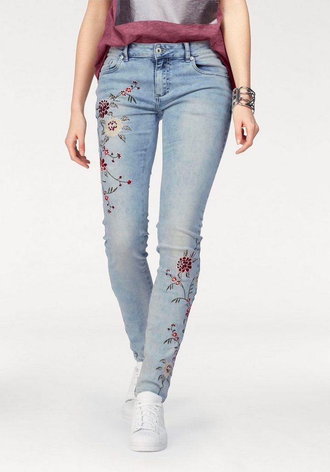 blue monkey skinny fit jeans honey mit aufw ndiger blumenstickerei online kaufen otto. Black Bedroom Furniture Sets. Home Design Ideas