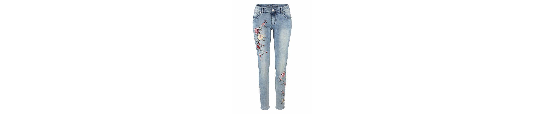 HONEY Blue Monkey Blue Jeans Monkey mit Blumenstickerei Skinny fit aufw盲ndiger nYw5EOWqO