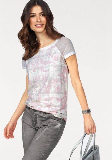 Laura Scott T-Shirt, mit Meshärmeln