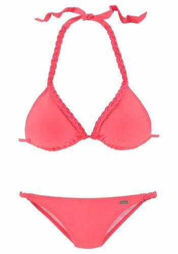 Damen Buffalo Triangel-Bikini mit Flecht-Detail rot | 04893865695957
