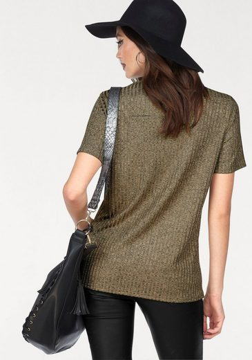 Melrose V-Shirt, mit Zipper