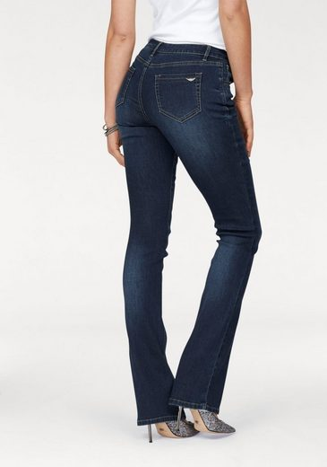 Arizona Bootcut-Jeans »Ultra-Stretch« Mid-Waist